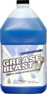 Grease Blast is a proprietary blend of live vegetative bacteria that consume fats, oils, and grease in drain lines preventing clogs.